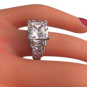 Sterling Silver Cz Ring  (S1)